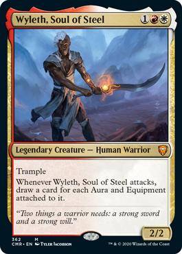 【Foil】《鋼の魂、ワイレス/Wyleth, Soul of Steel》[CMR] 金R(362)