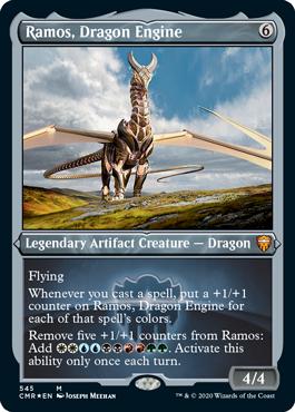 【Foil】■エッチング仕様■《ドラゴン・エンジン、レイモス/Ramos, Dragon Engine》[CMR-BF] 茶R