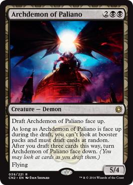 《パリアノの大悪魔/Archdemon of Paliano》[CN2] 黒R