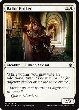 《投票の仲買人/Ballot Broker》[CN2] 白C