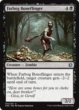 《遠沼の骨投げ/Farbog Boneflinger》[CN2] 黒U