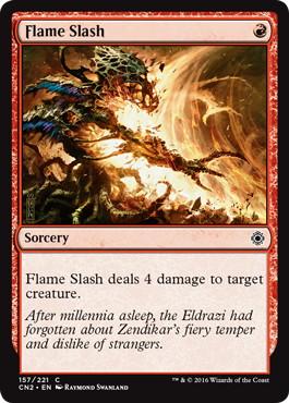 《炎の斬りつけ/Flame Slash》[CN2] 赤C