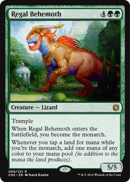 《絢爛なビヒモス/Regal Behemoth》[CN2] 緑R