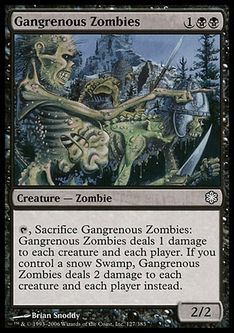 《壊疽のゾンビ/Gangrenous Zombies》[CSP構築済] 黒