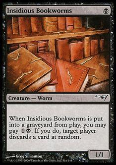 《腹黒い紙虫/Insidious Bookworms》[CSP構築済] 黒