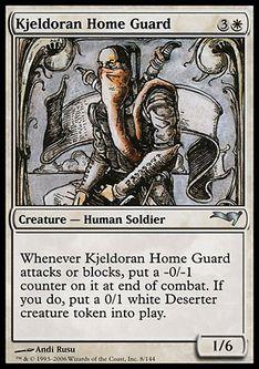 《キイェルドーの本拠守護兵/Kjeldoran Home Guard》[CSP構築済] 白