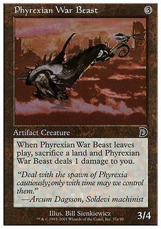 《Phyrexian War Beast》[DKM] 茶 A