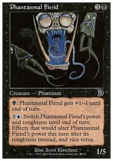 《幻影の悪鬼/Phantasmal Fiend》[DKM] 黒 B