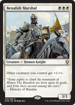 《ベナリアの軍司令/Benalish Marshal》[DOM] 白R