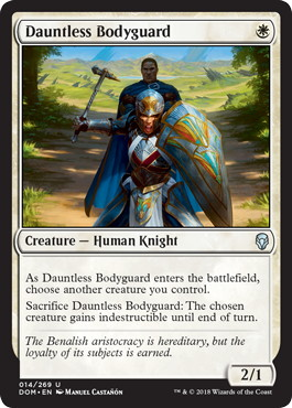 《不屈の護衛/Dauntless Bodyguard》[DOM] 白U