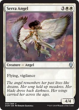 《セラの天使/Serra Angel》[DOM] 白U