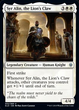 《獅子の爪、エイリン卿/Syr Alin, the Lion's Claw》[ELD] 白U