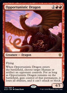 《日和見ドラゴン/Opportunistic Dragon》[ELD] 赤R