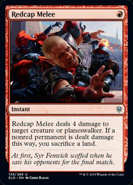 《レッドキャップの乱闘/Redcap Melee》[ELD] 赤U