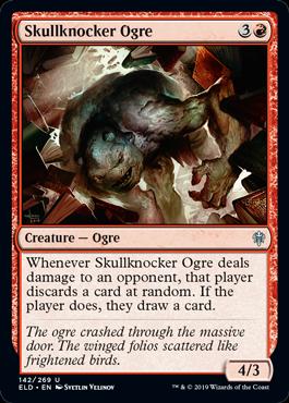 《頭蓋叩きのオーガ/Skullknocker Ogre》[ELD] 赤U