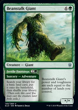 《豆の木の巨人/Beanstalk Giant》[ELD] 緑U