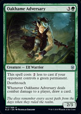 《オークヘイムの敵対者/Oakhame Adversary》[ELD] 緑U