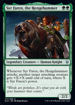 《ヘンジの槌、ファレン卿/Syr Faren, the Hengehammer》[ELD] 緑U
