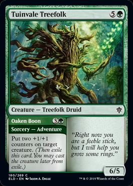《チューインベイルのツリーフォーク/Tuinvale Treefolk》[ELD] 緑C
