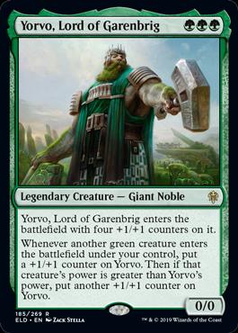 《ギャレンブリグの領主、ヨルヴォ/Yorvo, Lord of Garenbrig》[ELD] 緑R