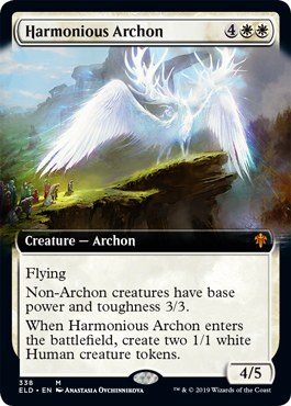 【Foil】■拡張アート■《調和のアルコン/Harmonious Archon》338 [ELD-BF] 白R