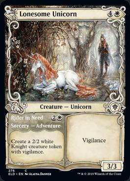 【Foil】■ショーケース■《独りぼっちのユニコーン/Lonesome Unicorn》276 [ELD-BF] 白C