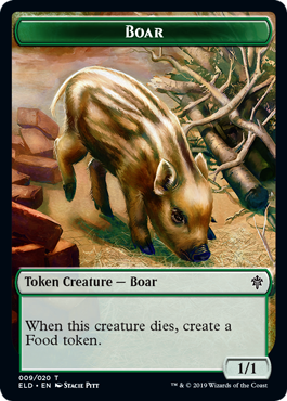 【Foil】《猪トークン/BoarToken》[ELD] 緑