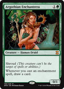 《アルゴスの女魔術師/Argothian Enchantress》[EMA] 緑R