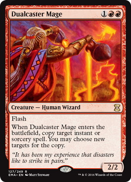 【Foil】《二重詠唱の魔道士/Dualcaster Mage》[EMA] 赤R