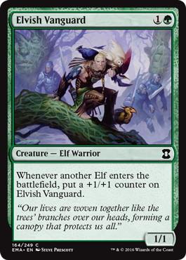 《エルフの先兵/Elvish Vanguard》[EMA] 緑C