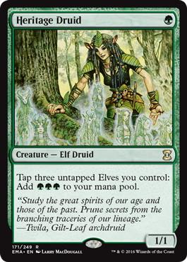 《遺産のドルイド/Heritage Druid》[EMA] 緑R