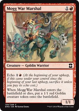 《モグの戦争司令官/Mogg War Marshal》[EMA] 赤C
