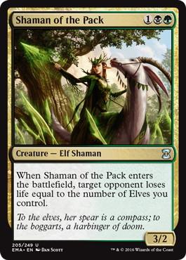 《群れのシャーマン/Shaman of the Pack》[EMA] 金U