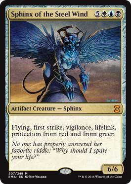 《鋼の風のスフィンクス/Sphinx of the Steel Wind》[EMA] 金R