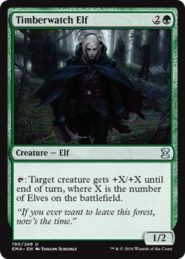 《森林守りのエルフ/Timberwatch Elf》[EMA] 緑U
