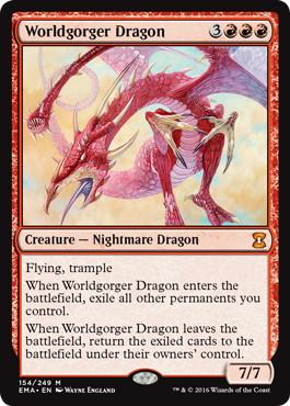 《世界喰らいのドラゴン/Worldgorger Dragon》[EMA] 赤R