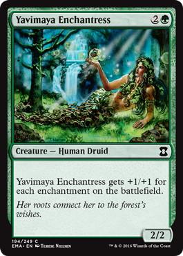 《ヤヴィマヤの女魔術師/Yavimaya Enchantress》[EMA] 緑C