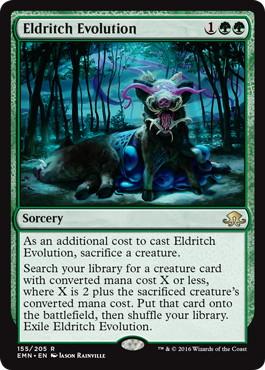 《異界の進化/Eldritch Evolution》[EMN] 緑R