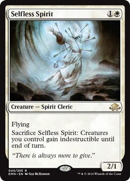 《無私の霊魂/Selfless Spirit》[EMN] 白R