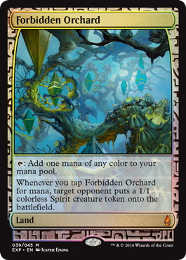 【Foil】《禁忌の果樹園/Forbidden Orchard》[EXP] 土地