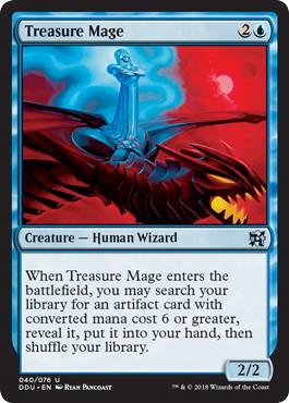 《宝物の魔道士/Treasure Mage》[EvI] 青U