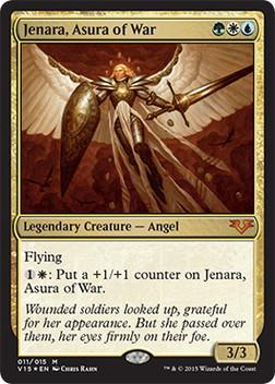 【Foil】《戦争のアスラ、ジェナーラ/Jenara, Asura of War》[FtV:Angels] 金
