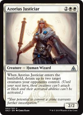 《アゾリウスの大司法官/Azorius Justiciar》[GK2-WU] 白U