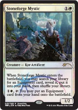 【Foil】《石鍛冶の神秘家/Stoneforge Mystic》[GPプロモ] 白