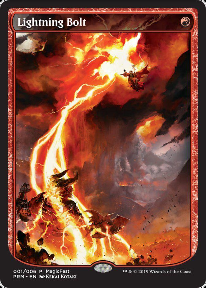 ☆Foil☆《稲妻/Lightning Bolt》[MagicFest] 赤
