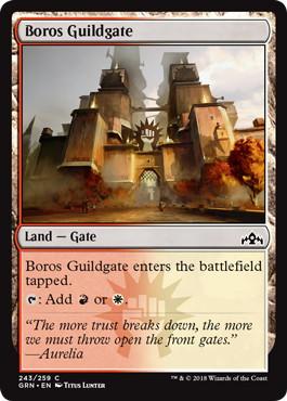 《ボロスのギルド門/Boros Guildgate (243)》[GRN] 土地C