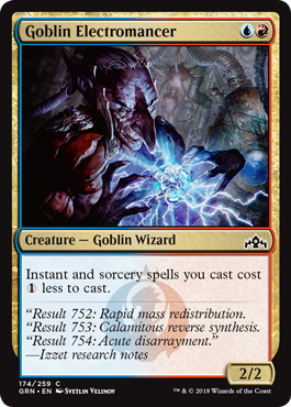 《ゴブリンの電術師/Goblin Electromancer》[GRN] 金C