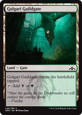 《ゴルガリのギルド門/Golgari Guildgate (248)》[GRN] 土地C