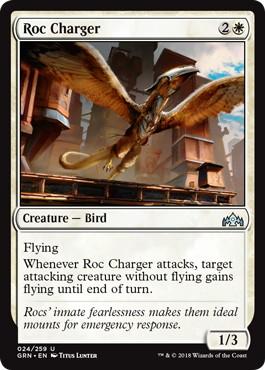 【Foil】《突撃するロック鳥/Roc Charger》[GRN] 白U