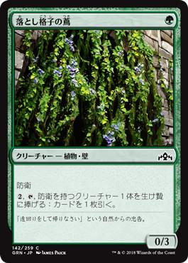 落とし格子の蔦